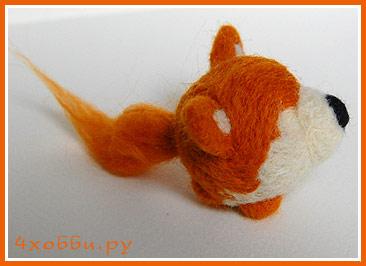 готовая лисичка без глазок