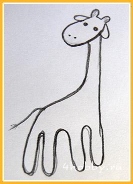 рисунок жирафы