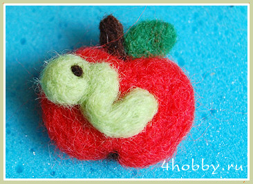 брошка-яблоко